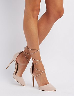 Peep Toe Stiletto Heel Wide Fit Slingback Shoes