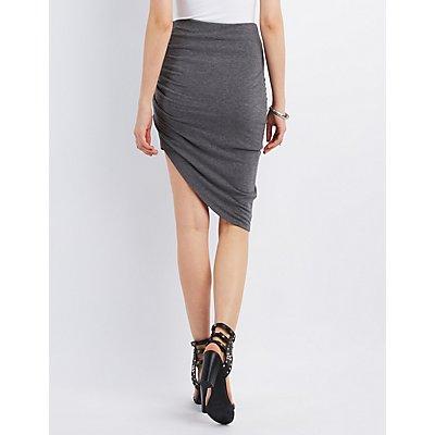 Asymmetrical Knot Skirt