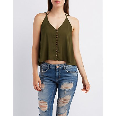 Button-Up Strappy Tank