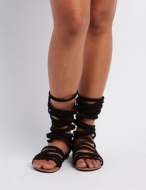 ca41a6653cfb Wide Width   Calf Gladiator Sandals