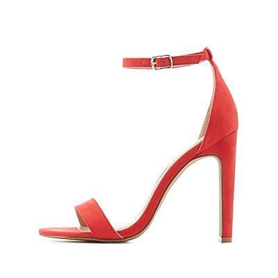 Two-Piece Chunky Heel Dress Sandals