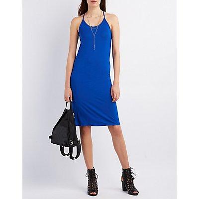 T-Back Midi Shift Dress
