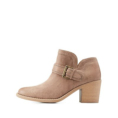 Qupid Buckled Ankle Booties