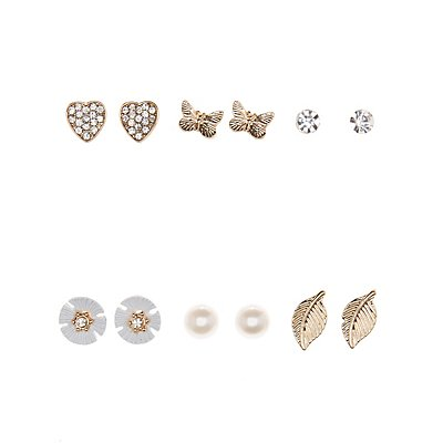 Nature Love Earrings - 6 Pack
