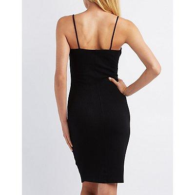 Ribbed Sleeveless Bodycon Dress