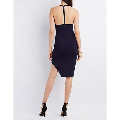 Asymmetrical T-Back Bodycon Dress