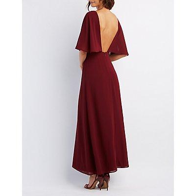 Flutter Sleeve Maxi Dress