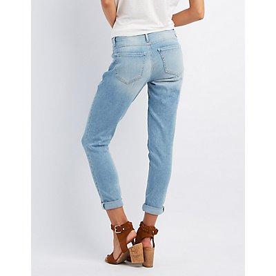 Refuge Skinny Boyfriend Light Wash Jeans