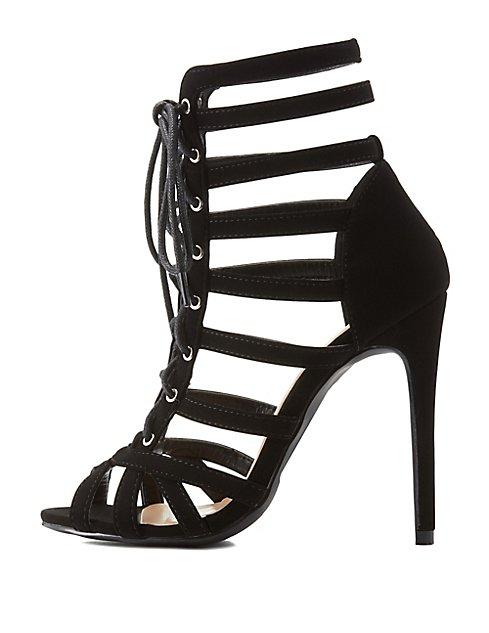 32adbfb2f95 Strappy Lace-Up Dress Sandals