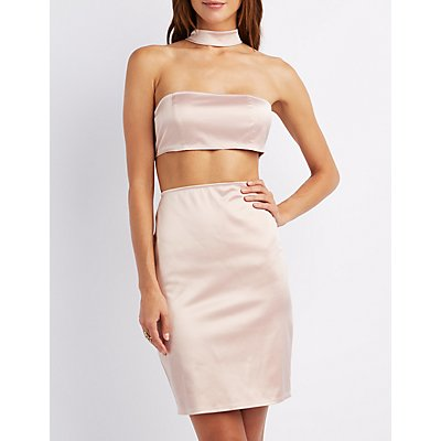 Choker Neck Cut-Out Dress