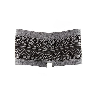 Printed Seamless Boyshort Panties