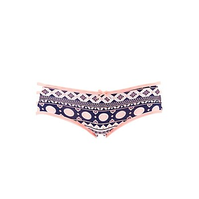 Printed Caged Hipster Panties