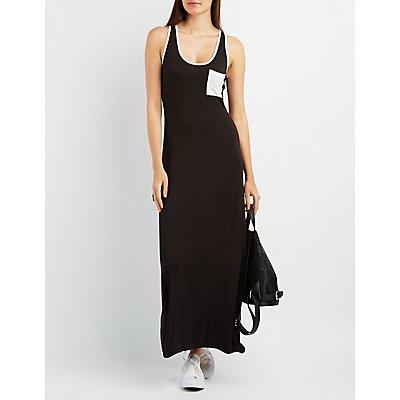 Ringer Pocket Maxi Dress