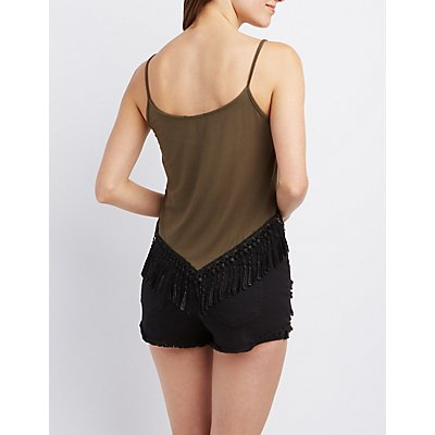 Graphic Fringe Tank Top