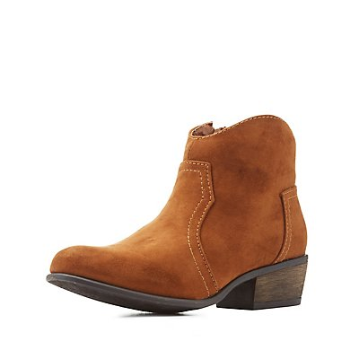Bamboo Western Ankle Booties