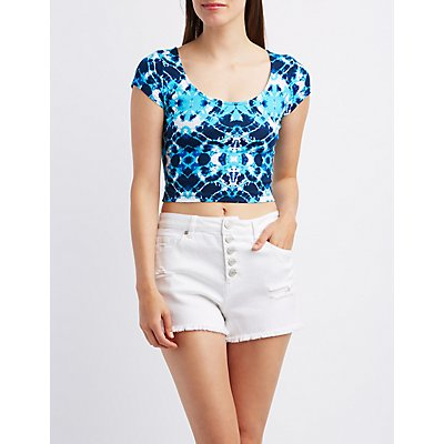 Tie-Dye Cotton Crop Top