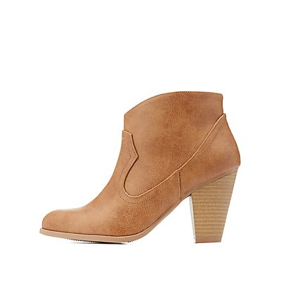 Faux Leather Western Booties