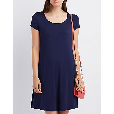 Scoop Neck Swing Dress