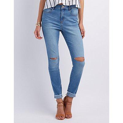 Refuge Hi-Rise Skinny Destroyed Jeans