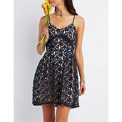 Floral Crochet Lace Dress