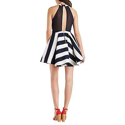The Vintage Shop Striped Skater Dress