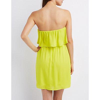 Ruffled Sleeveless Midi Dress