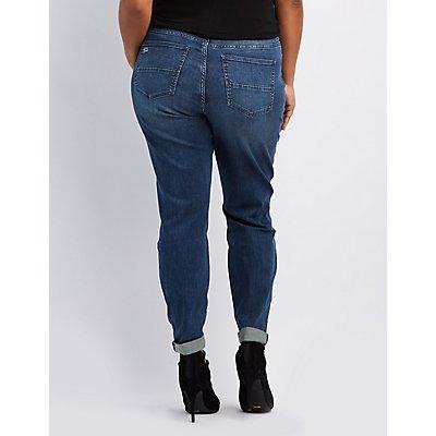 Plus Size Refuge Boyfriend Destroyed Jeans