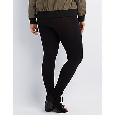 Plus Size High-Rise Stretch Leggings