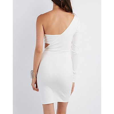 One-Shoulder Bodycon Cut-Out Dress