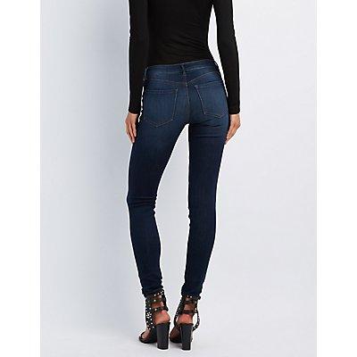 Refuge Skin Tight Legging Dark Wash Jeans