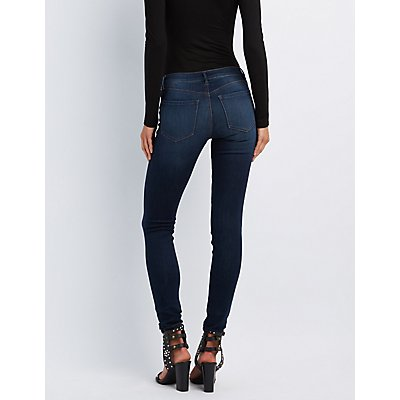Refuge Skin Tight Legging Dark Wash Jeans