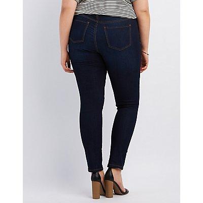 Plus Size Dark Wash Skinny Jeans