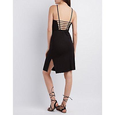 Caged-Back Midi Dress