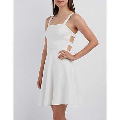 Caged Back Skater Dress