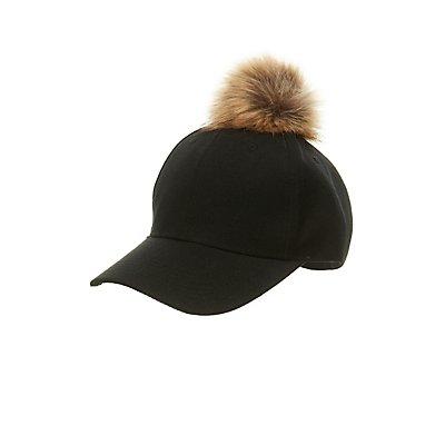 Pom Pom Baseball Hat
