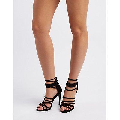 Strappy Tubular Dress Sandals