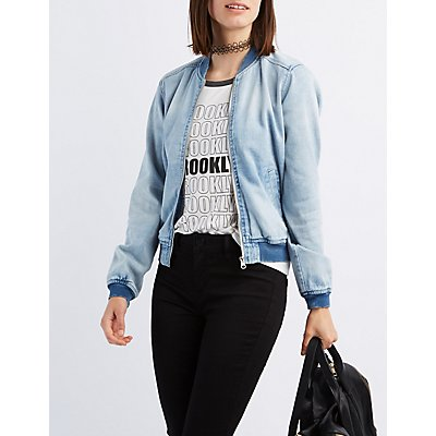 Refuge Denim Bomber Jacket