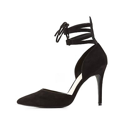 Caged D'Orsay Pointed Toe Pumps