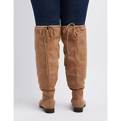 Wide Width Drawstring Over-The-Knee Boot