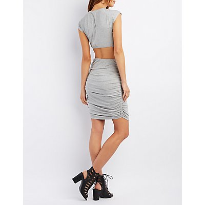 Knotted Cut-Out Bodycon Dress