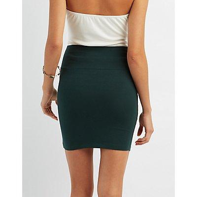 Solid Bodycon Mini Skirt