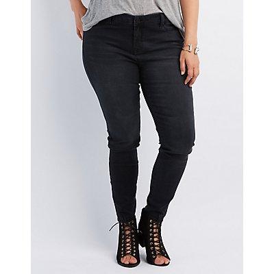 Plus Size Refuge Push Up Legging Jeans