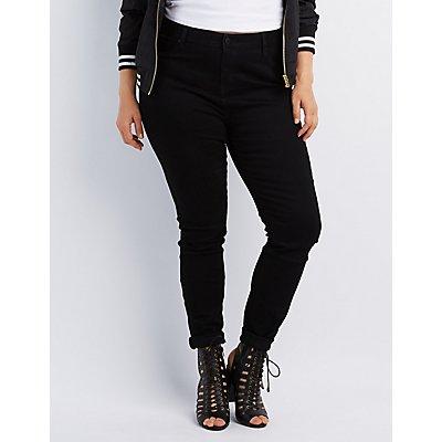 "Plus Size Refuge ""Push Up Legging"" Jeans"