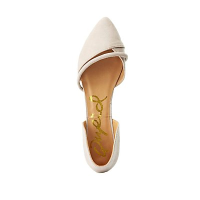 Qupid Two-Piece Pointed Toe Flats