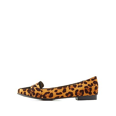 Bamboo Leopard Penny Loafers