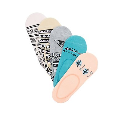 Arrow & Aztec Print Shoe Liners - 5 Pack