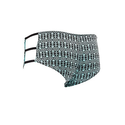 Plus Size Strappy Printed Boyshort Panties