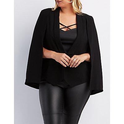plus size structured cape blazer | charlotte russe
