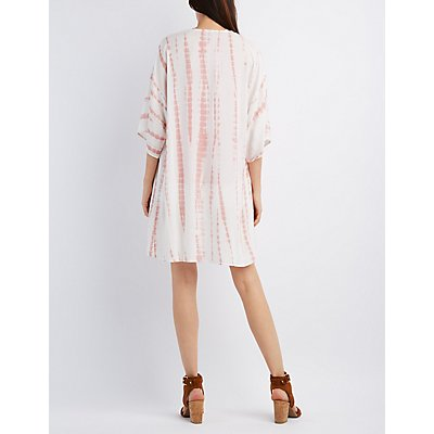 Gauzy Tie-Dye Kimono