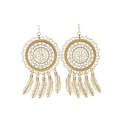 Embellished Dreamcatcher Drop Earrings